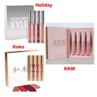 Wholesale Make Up Free Shipping Dhl - kylie Koko Kollection kylie kkw x collaboration kylie holiday lipstick make up lip gloss set makeup lipstick DHL free shipping