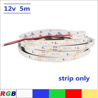 Wholesale Wired Blue Led 5mm - DC12V LED strip SMD2835 Flexible Light 5mm narrow width strip 5M 60leds m White, Warm white, Blue, Green, Red IP20 No waterproof Strips