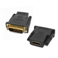 hdmi dönüştürücüleri toptan satış-DVI Erkek HDMI Kadın M-F HDTV Ücretsiz Nakliye Için HDMI DVI Adaptörü Dönüştürücü çevirici
