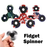 Fidget Spinner Camouflage Toys Plastic EDC Finger Hand Spinner Stress ABS Amérique Handspinner Fidget Toys 20 Styles FBA Drop Shipping B16L