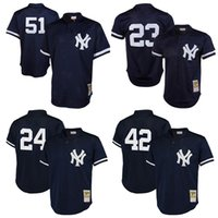 Wholesale New York Yankees jerseys Gary Sanchez Don Mattingly Mariano Rivera Williams Mitchell Ness Throwback Mesh Batting Practice baseball Jersey