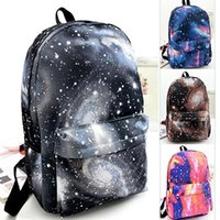 Sac À Livres Galaxy Pas Cher-Vente en gros - Unisex Galaxy Space Backpack sac à dos de voyage Canvas Book Storage School Bag