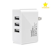 Wholesale Usb Wall Charger Cellphone - 3 USB Charger 5V 2A AC Power Adapter Home Travel Wall Fast Charging US Plug for Cellphone With Retail Box