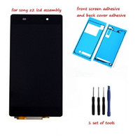 Wholesale Touch Screen Lcd Xperia - New Original LCD Touch Display + Screen Digitizer For Sony Xperia Z2 L50W D6502 D6503 LCD Display Touch screen Digitizer +adhesive