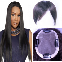 Wholesale men hair toupee quality for sale - Indian Human Hair Toupee For Men Women cm Natural Black Color Lace And PU Around High Quality
