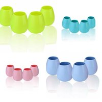 Wholesale Beer Pool - silicone wine glasses Stemless Cup Party Cups for Camping Pool Picnic Cup Wine Water Beer Whiskey Glass LJJK713