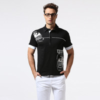 Wholesale Polo Shirt Cool - British Brand Men Short Polo Shirt Summer Casual Cool Tee Shirt For Mens Slim Fit Plus Size Top Men Shirts T170402