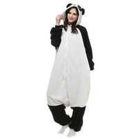 panda fantasia venda por atacado-Panda KIGURUMI Pijama Animal Adulto Unisex Traje Cosplay Macacão Pijamas Macacão Fancy Dress S, M / L, XL