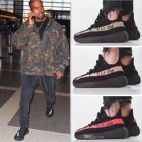 Wholesale Tennis Infant - Cool Zebra Black Red Infant Sport Shoes V2 Kanye west 350 BOOST v2 New With BOX Black White Grey Orange Running Men Sneaker