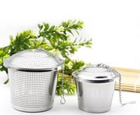 Wholesale Iron Teapot Set - New Tea bucket Infuser Stainless Steel Pot Set Infuser Sphere Mesh Tea Strainer Handle Ball Teapot Accessories 15x