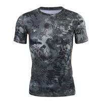 taktisches t-shirt großhandel-Neue Sommer Militär Camouflage Männer T-shirt Casual Taktische Armee Kampf O Neck T-shirt Männer Quick Dry Kurzarm Camo Kleidung