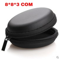 Wholesale Round Flat Cable - Leather Round Pocket Fidget Spinner Toy Pouch Storage Bags Bluetooth Headset Phone Cable USB Bags Case Gifts Pouch Zipper Sack