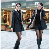 Wholesale Long Hooded Down Vests - free shipping women down parkas lady winter clothing girl's outerwear Faux fur lining women's fur jackets Overcoat coat coats Tops