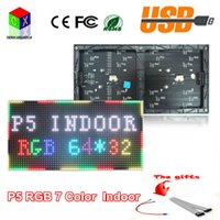 Wholesale Led Rgb Display Modules - P5 rgb indoor full-color module 1 16 Scan 320*160mm 64*32pixels LED display screen