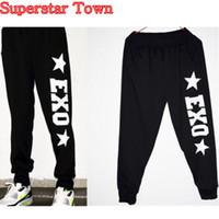 Wholesale Exo Baekhyun - Wholesale-2016 New KPOP Arrival EXO Chanyeol Baekhyun Black Long Dance Casual Pants Trousers
