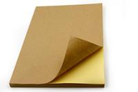 papel para etiquetas de inyección de tinta al por mayor-Al por mayor- Alicia, 50 hojas de papel de escritura de la etiqueta A4 engomado estúpido papel de kraft Adecuado para pegatinas de inyección de tinta láser