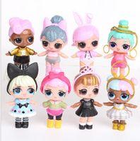 Wholesale Kawaii Fashion Baby - 8-9CM LOL Surprise Doll Baby Fashion Dolls PVC Action Figure Anime Kids Toys For Christmas Gifts Kawaii Reborn Dolls 8pcs Set KKA2740