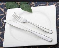 ingrosso forchette occidentali-Coltello bistecca e forchetta due pezzi, coltello e forchetta in acciaio inossidabile, cibo occidentale, posate, stoviglie per hotel