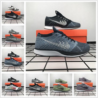 Wholesale Sneakers Mens Brands - 2017 Brand High Quality Mens Womens Athletic Racer Running Sneaker Shoes Multicolor Red Grey Black 36-45 Free Drop Shipping