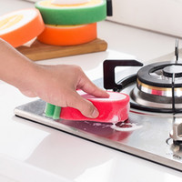 reinigungstücher für küche großhandel-Mikrofaserschwamm Nette Fruchtform Scheuerschwamm Reinigungstuch Stark Entfernen Flecken Verdickt Schwamm Küchenhelfer 4 stücke