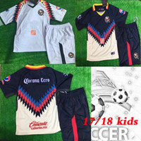 fcc12dc46 Soccer Boys Full kids kits 17 18 Mexico american club young football shirts  Club America Aguilas