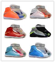 Wholesale Best Indoor Soccer Shoes - 2017 Cheap Best hypervenom boots neymar phantom DF IC TF Men's Soccer Shoe Boots Wholesale Mens Hypervenom 3 indoor soccer football shoes