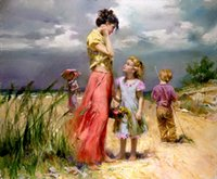 Wholesale Impressionism Arts - Pino Daeni Remember When,Handpainted Famous Impressionism Art Oil Painting On High Quality Canvas size can customized Free Shipping Pn008