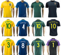 60d41e03eea 2018 Brazil Soccer Jersey National Team Custom Football Shirt 10 NEYMAR JR  19 WILLIAN 6 MARCELO 10 RONALDINHO 10 KAKA 7 COSTA Thai Quality