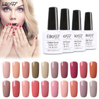 Wholesale Gel Lamps Wholesale - Wholesale- Elite99 Private Label 24pcs Set Nude Color Series UV Gel Nail Polish Varnish Need Colored Avaliable UV Lamp To Cure 10ml