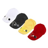 Wholesale Fan Energy Saving - Men Women Summer Hat Cap with Solar Sun Power Cool Fan For Energy save No batteries required Beach Boater Hats Caps 2017 New