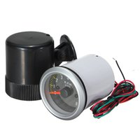 Wholesale Rev Gauge - 2 inch 52mm 0 - 8000 RPM Rev Tacho Gauge Car Tachometer Carbon Fiber Face Yellow LED