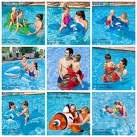 Kids Inflável Pool Float Raft Boat Summer Piscina ao ar livre Party Lounge Raft Ride-On Water Toys OOA2071