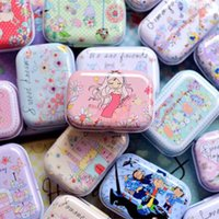 Wholesale Sell Candy - New Arrival Handmade DIY Metal Tin Box,Hot Selling Lovely Kids Candy Pill Case,Creative Mini Birthday Grow up Gift Box
