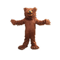 Wholesale Happy Bear Mascot - Happy Brown Bear Mascot Mascot Costumes Cartoon Character Adult Sz 100% Real Picture