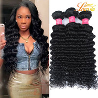 Wholesale hair weave fast delivery resale online - New Arrival Malaysian Virgin Hair Deep Wave Curly Weave Human Hair Bundles Factory Price Unprocessed Natural Color Fast Delivery
