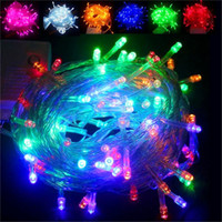 Wholesale Curtain Colors - 10M 100 LED fancy ball Lights Decorative Christmas Party Festival Twinkle String Lamp garland 9 Colors Free Shipping