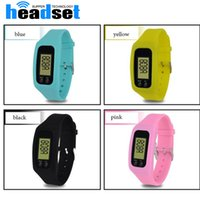 2017 Digital LED Pedometer Run Step Walking Distance Calorie Counter Watch Moda Design Pulseira Colorful Silicone Pedometer