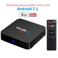 Wholesale Quad Band Wifi Dual - New MXQ PRO 4K TV Box 4G 32G Streaming Box dual band WiFi Bluetooth 4.0 KD17.3 loaded Rockchip RK3328 7.1 Android TV Box 4GB