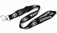 Wholesale Cars Lanyards - FREE SHIPPING Hot10pcs lot Car Logo Lanyard for MP3 4 cell phone key chain lanyards wholesale L004