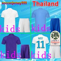 Wholesale Thailand Quality Soccer Uniforms - Thailand quality 2017 18 Olympique de Marseille soccer jerseys sets uniforms kids kits home away third purple 2018 THAUVIN football shirts