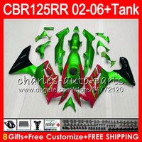 Wholesale Honda Cbr125r Fairings - 23Colors Body +Tank For HONDA CBR125 R CBR TOP Green red 125R 125RR CBR125R 02 03 04 05 06 80NO46 CBR125RR 2002 2003 2004 2005 2006 Fairing