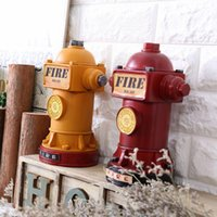 Wholesale Fire Hydrants - Vintage Home Decor Money Box Money Bank Style Fire Hydrant Bar Home Decoration Accessories 23*14cm