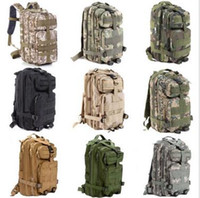 Wholesale Wholesale Sports Backpacks - 30L Hiking Camping Bag Army Military Tactical Trekking Rucksack Outdoor Sports Camouflage Bag Military Tactical Backpack CCA6085 50pcs