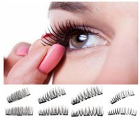 Wholesale magnet eye - Triple Magnetic Eye Lashes 3D Mink Reusable False Magnet Eyelashes Extension 3d eyelash extensions magnetic eyelashes makeup KKA3245