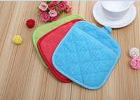 Wholesale fiber dish resale online - Microfiber Dish Drying Mat Cup pads Tableware Mats x23cm Heat insulation COLORS Creative Casual Pad