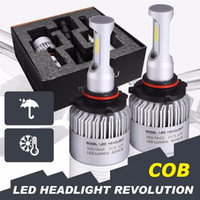 Wholesale Car Parts Headlight Bulb - S2 COB H7 LED Headlight 72W 8000LM All In One Car LED Headlights Bulb Headlamp Fog Light 12V Auto Replacement Parts 6500K