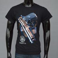 Wholesale Wholesale Handguns - 2017 Fashion streetwear handgun Print men's 3d gun t-shirt black short sleeve clothes t shirt o neck loose fit Tops tshirt BMTX27 F