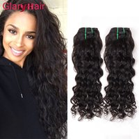 2017 New Fashion Style Water Wave Extensions Brazilian Malaysian Curly Hair Bundles Naturel Wave Big Exprimeurs de cheveux humains bouclés 100g Bundle