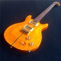 Wholesale Guitarra Custom Shop - New arrival Orange color s santana electric guitar,best quality,good custom guitarra shop, free shipping