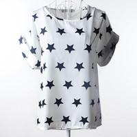 çince moda giyim toptan satış-Yaz kadın t gömlek Çin ipek 2017 tees tops kadın giyim şifon o-boyun moda kadın T-Shirt kısa kollu